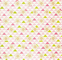 Pink Flowers and Triangles by amberwillow