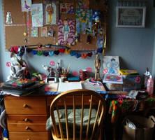 La la Work Space by amberwillow