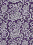 Silver floral paisley on violet - free to use