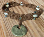 moss agate hemp necklace