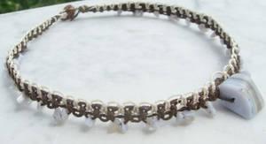 blue lace agate hemp necklace by HempLady4u