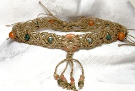 aventurine hemp necklace by HempLady4u