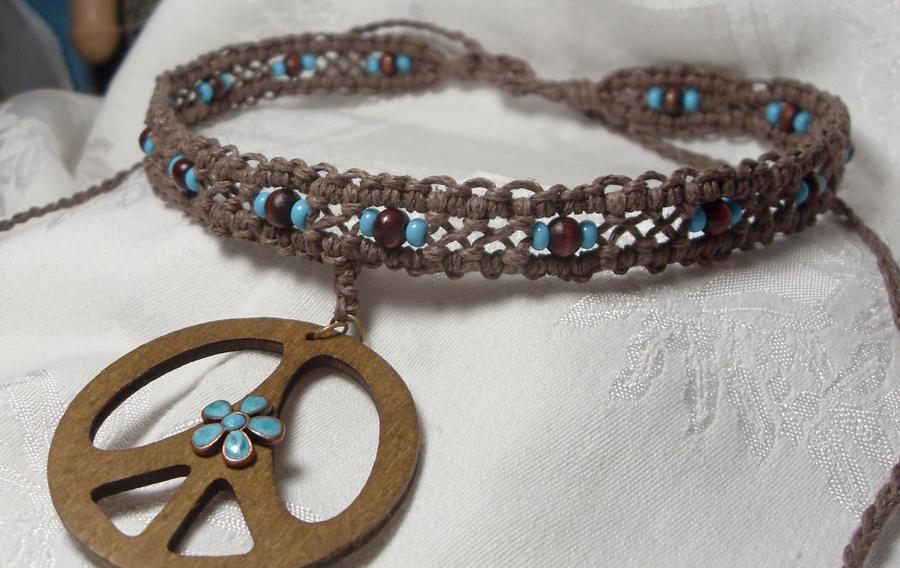 hippy happy hemp necklace by HempLady4u