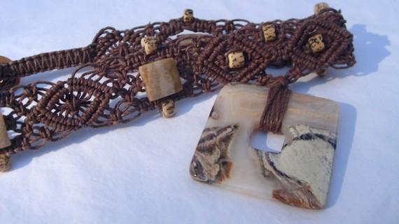 stone goddess hemp necklace by HempLady4u