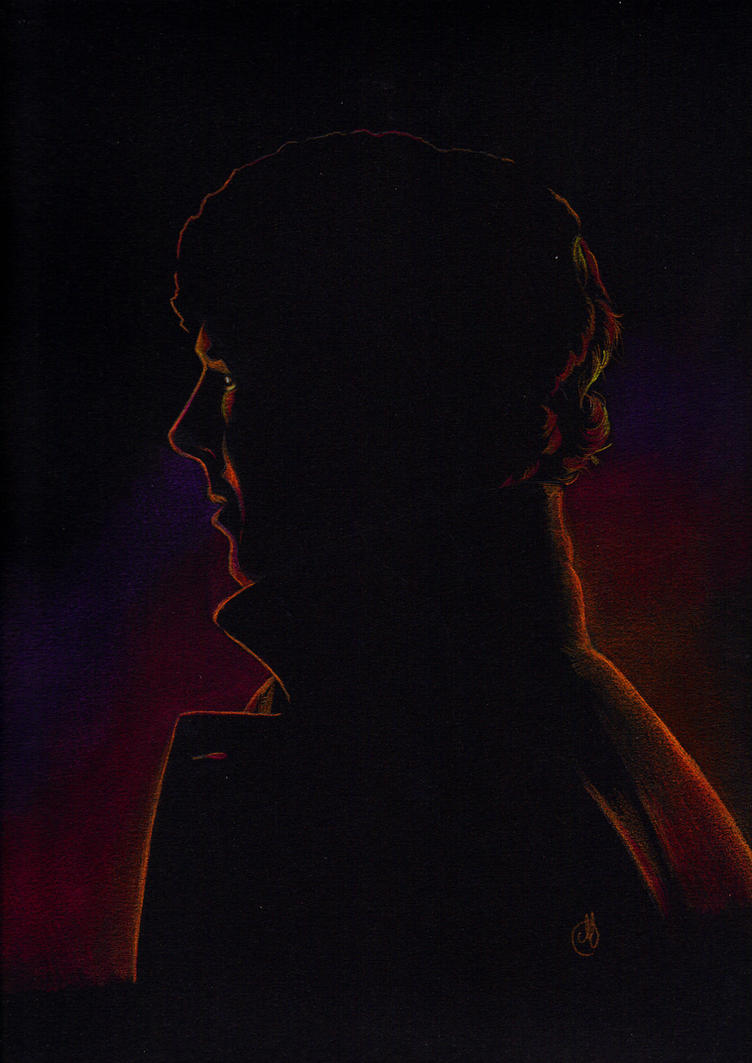 Sherlock in the night by Melnia