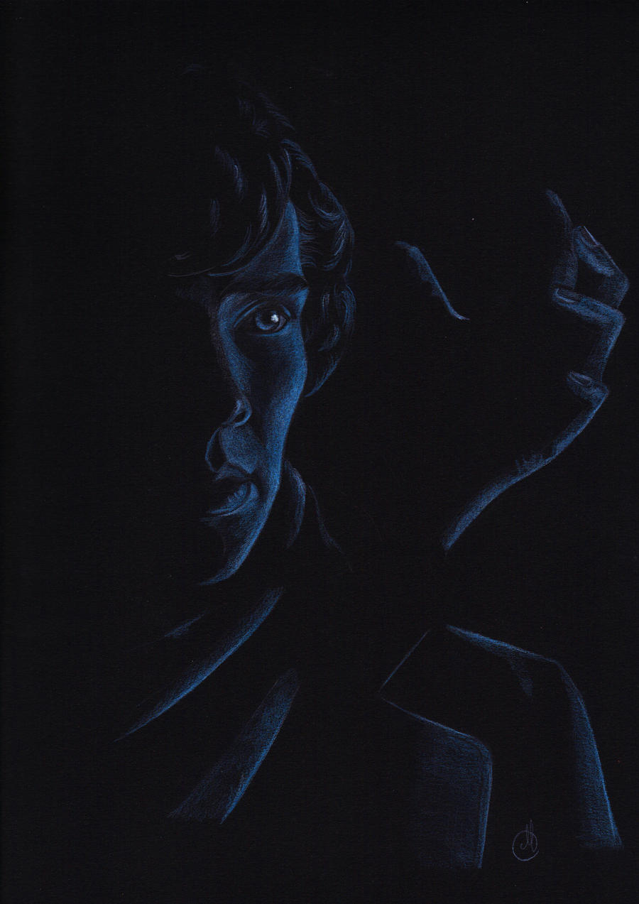 Sherlock in the planetarium by Melnia