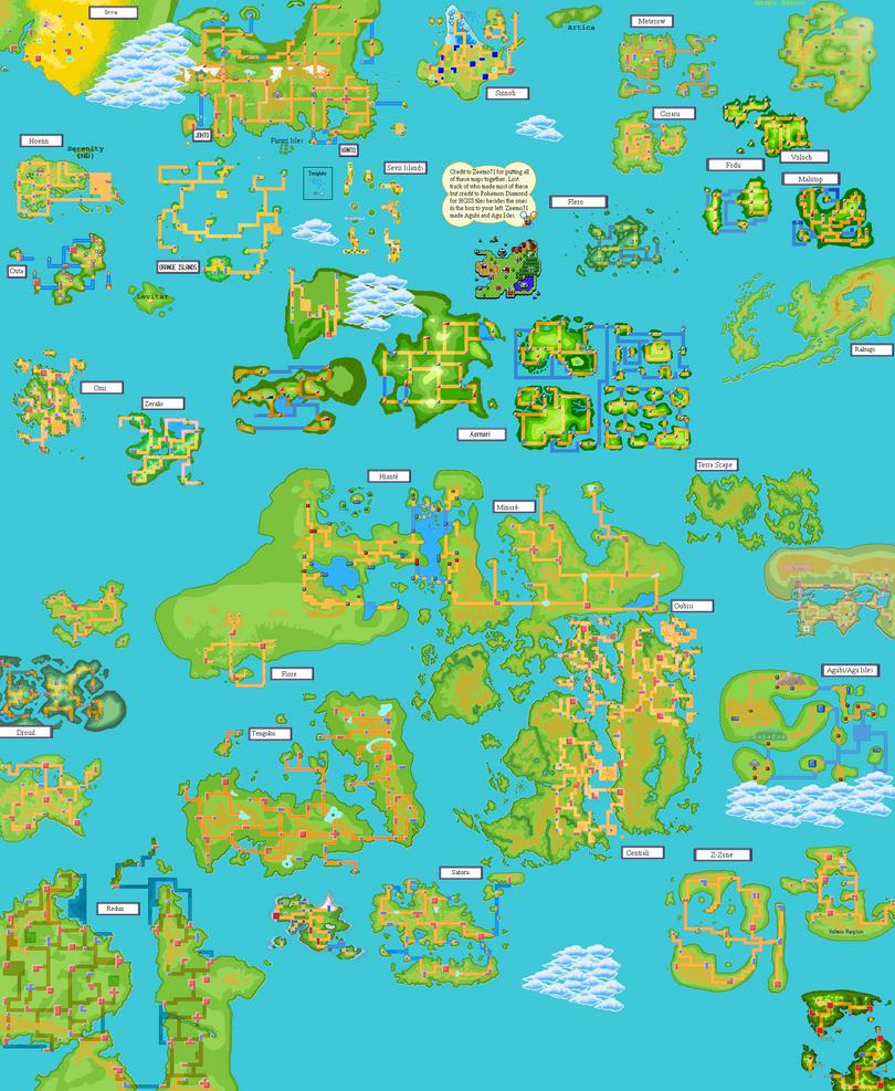 Pokemon World Map by Zeemo71