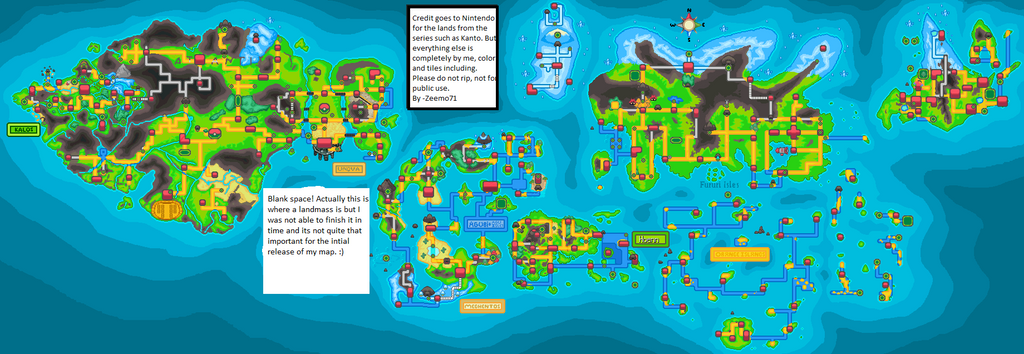 Map Of The Pokemon World