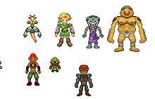 Custom Zelda Sprites