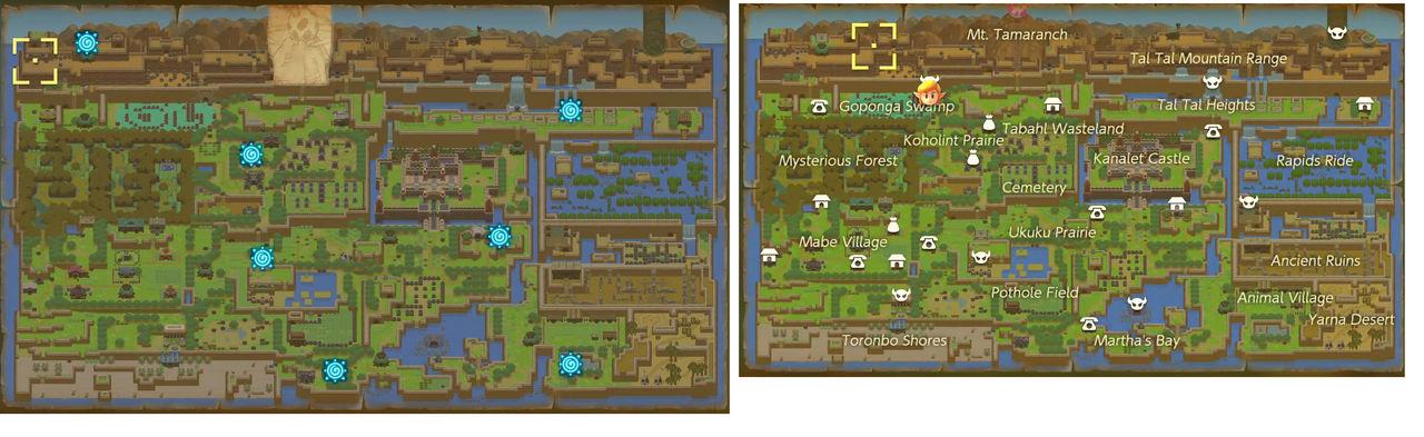 Link's Awakening Remake Map Rip_Credit to Nintendo