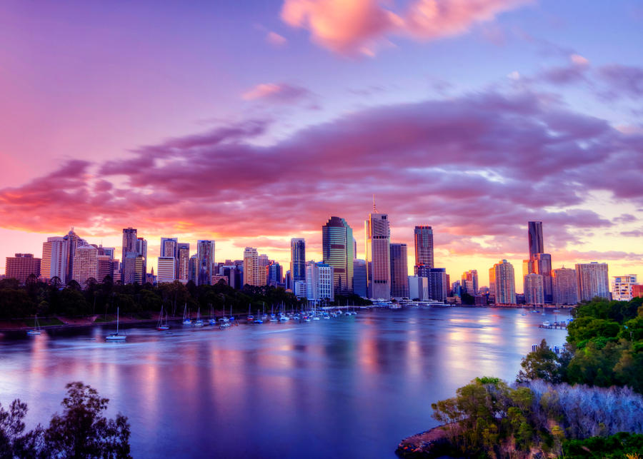 Brisbane Twilight by kate-art