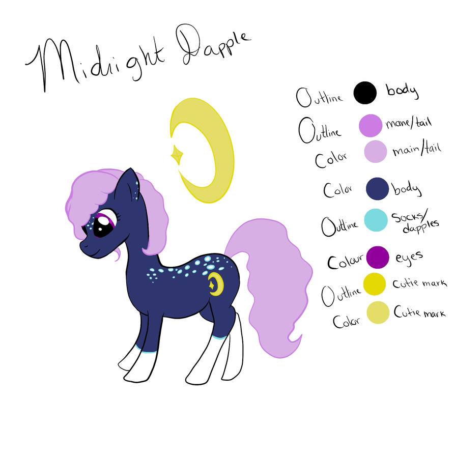 Midnight Dapple Adoptable by MercytheRose