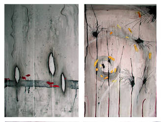 grey diptych by Branchcake
