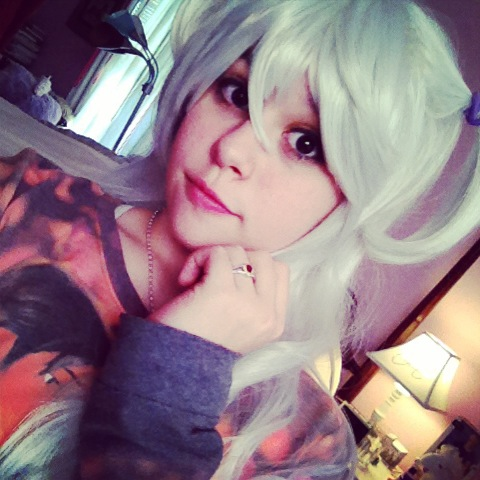 Nagisa Momoe makeup test by Goldenemerald2012