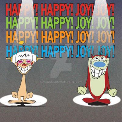 Ren and Stimpy Happy Happy Joy Joy by medek1