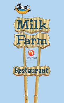 Milk Farm Restaurant Sign