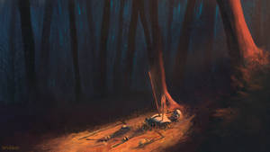 Death in forest