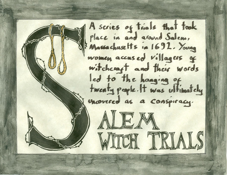 causes of the salem witch trials essay Salem witch trials essay examples 1 page the biological cause of the salem witch trials the events that led to the chaotic witch trials of salem.