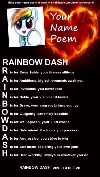 Rainbow Dash's Name Poem