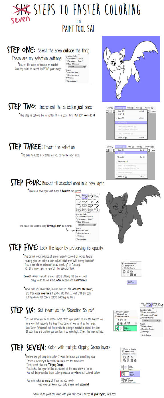 SAI Tutorial - Seven Steps to Faster Coloring by Kyttias on DeviantArt