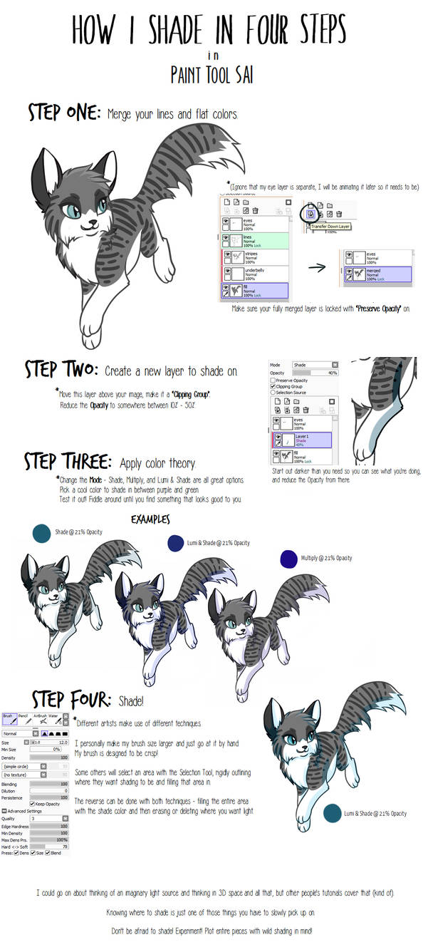 how to shade in paint tool sai
