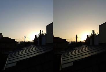 3D cross-eyed sunrise by gogu1234