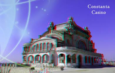 3D anaglyph Constanta Casino by gogu1234