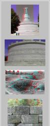 3D anaglyph Archeological Complex Tropaeum Traiani by gogu1234
