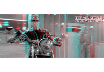 3D anaglyph Terminator 2 by gogu1234
