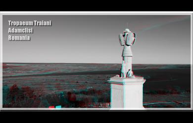 3D anaglyph Tropaeum Traiani Adamclisi by gogu1234