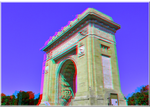 3D anaglyph Arch of Triumph Bucharest APNG by gogu1234