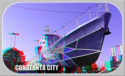 3D anaglyph Constanta City 2019 by gogu1234