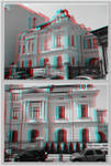 3D anaglyph Bucharest buildings (12) by gogu1234