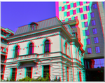 3D anaglyph Bucharest buildings (14) APNG by gogu1234