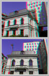 3D anaglyph Bucharest buildings (14) by gogu1234