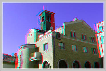 3D anaglyph Church of Saint Anthony Constanta by gogu1234