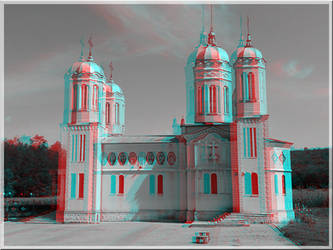 3D anaglyph Cave Monastery of Saint Andrew APNG by gogu1234