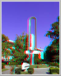 3D anaglyph Constanta architecture 03 by gogu1234