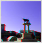 3D anaglyph Constanta architecture 02 by gogu1234