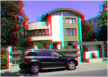 3D anaglyph Constanta architecture 01 by gogu1234