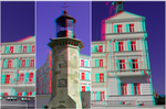 3D anaglyph Constanta architecture 04