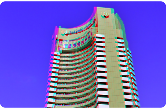 3D anaglyph Intercontinental Hotel APNG