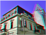 3D anaglyph Bucharest architecture APNG by gogu1234