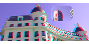 3D anaglyph Thinking about architecture 15