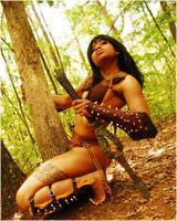 Gladiatrix Qamarah revisited 3 by TheGreatWukong