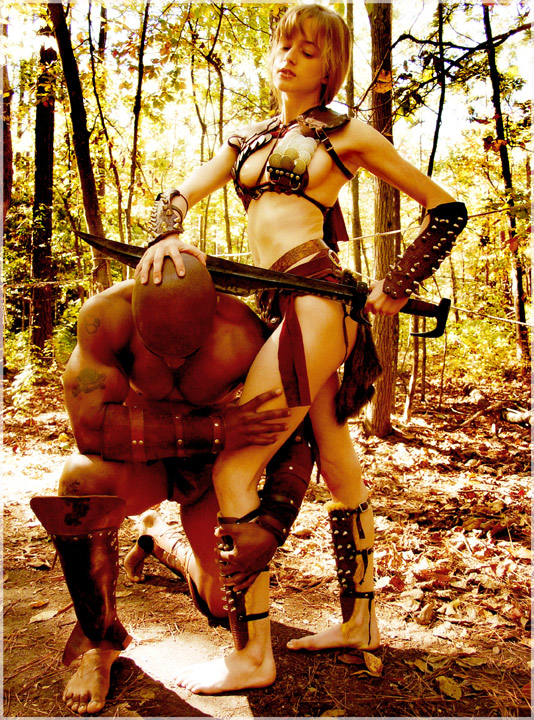 中世纪女武士的格斗 - ★  牧笛  ★ - ★★★ 世界数码艺术博览★★★