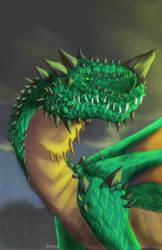 Green Jade Dragon- Rainy Sunset