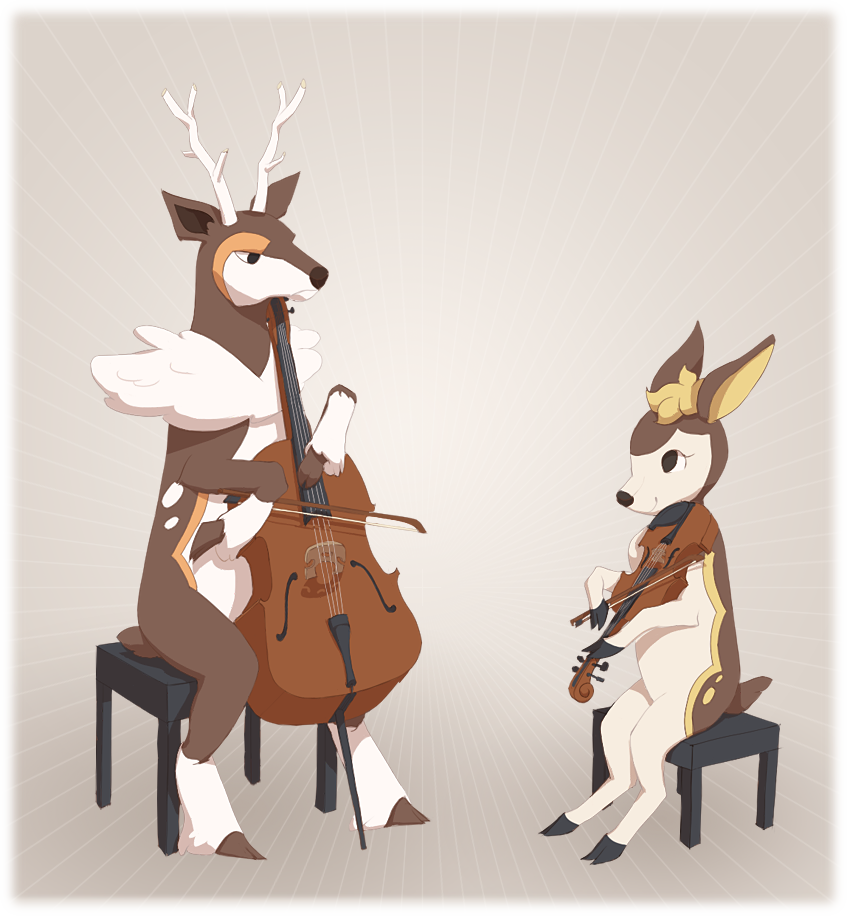 Deer string duet by Sqwirry
