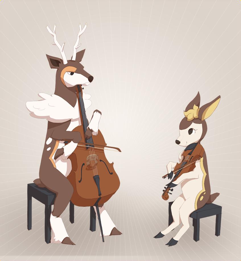 Deer string duet by Sqwirry