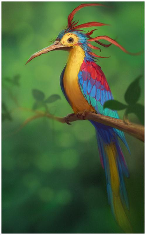 Fantasy bird by purrskill